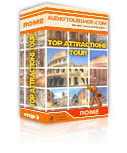 Box of mp3 audio tour 'Top Attractions Tour', in Rome
