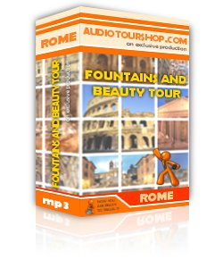 Box of mp3 audio tour 'Fountains and beauty Tour', in Rome